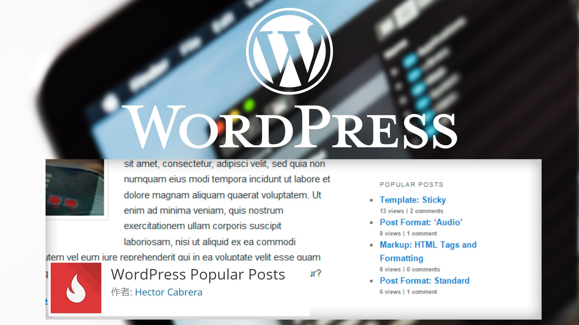 【WordPress Popular Post】人気記事プラグイン 名古屋ホームページ制作ウェブアイコン